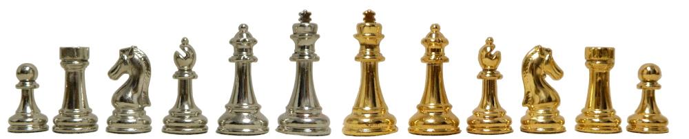 Classic Staunton Design Metal Chess Pieces