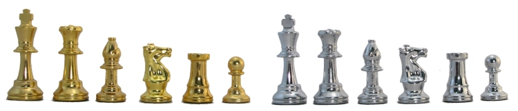 Gold and Silver Metal Chessmen