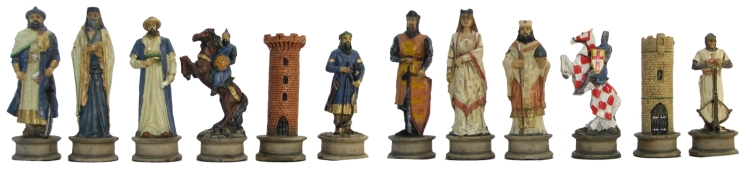 Large Crusaders Chessmen
