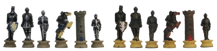 Medieval Knights Chessmen