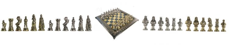 Theme Metal Chess Pieces
