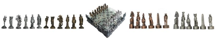Pewter Theme Chess Sets