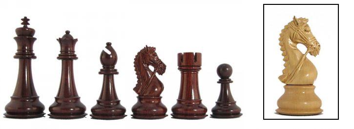 Praetorian Exotic Staunton Chess Pieces