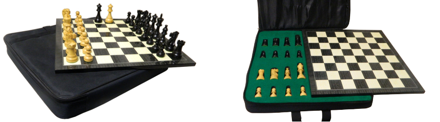 American Staunton Chess Set with Case