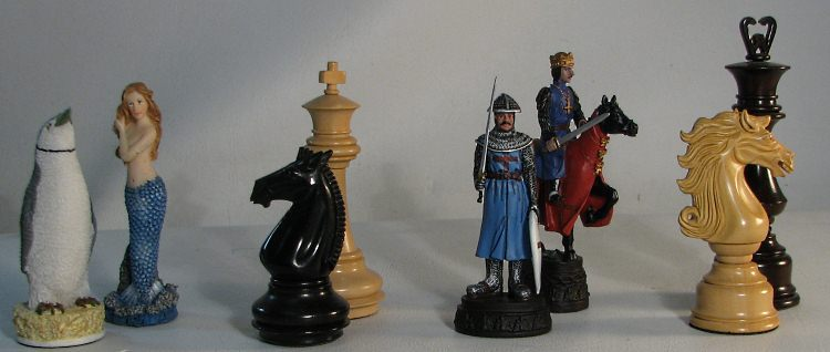 decorative chess pieces