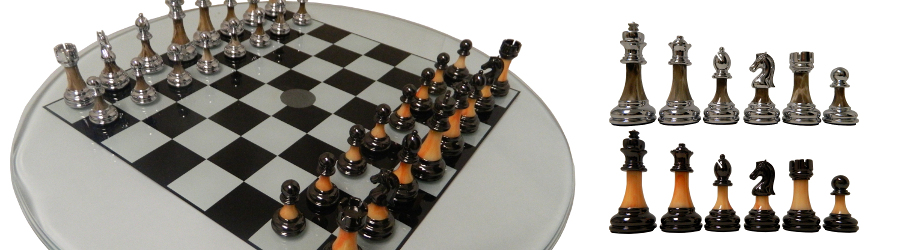 Exclusive Glass Chess Set