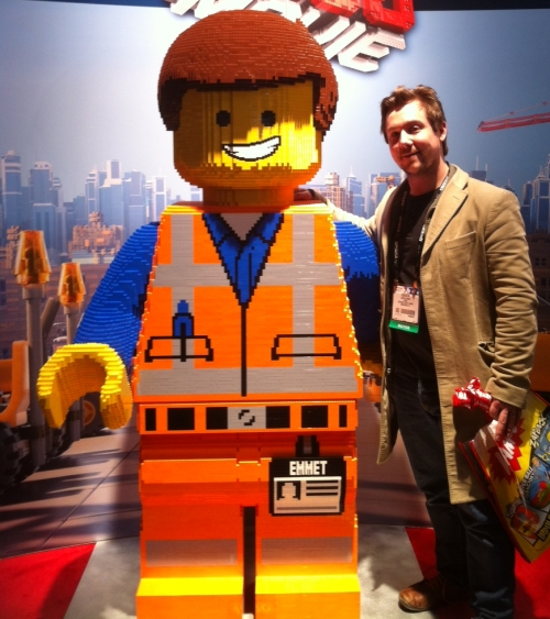 Me with Emmett, star of the Lego Movie