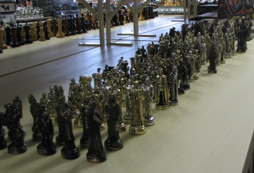 new Greek metal chess sets