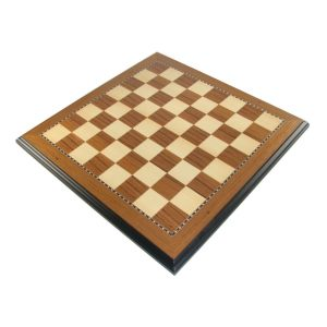 teak chessboard