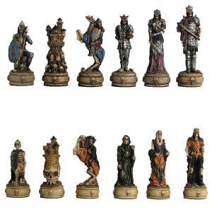 skeletal warrior horror chess set