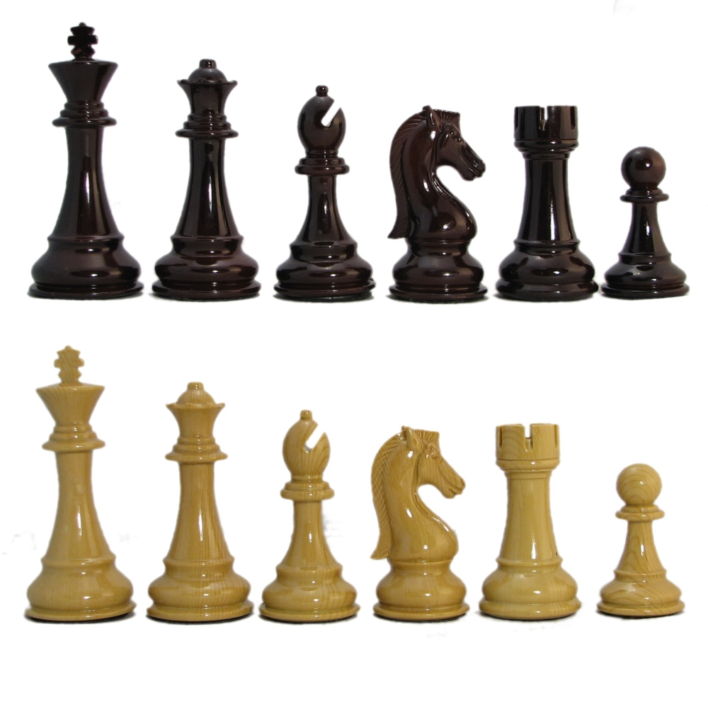 4 1 4 Quot Ultraweight Crimson Resin Staunton Chess Pieces