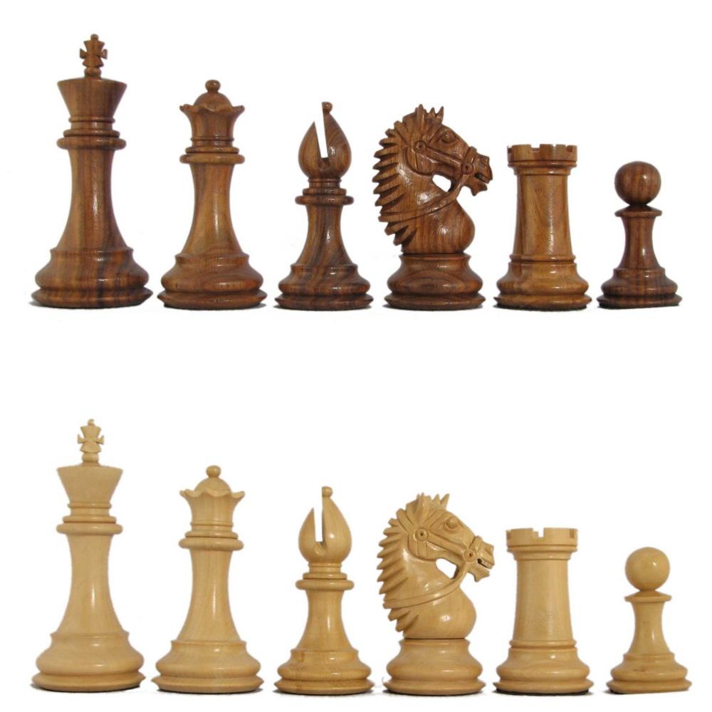 Large Honey Rosewood Chess Pieces In Centurion Staunton