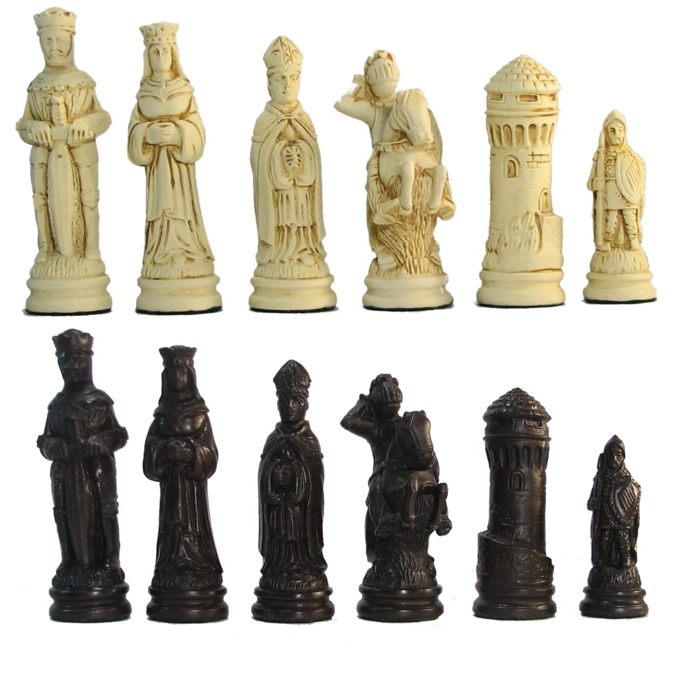 Large Camelot Crushed Stone Chess Pieces