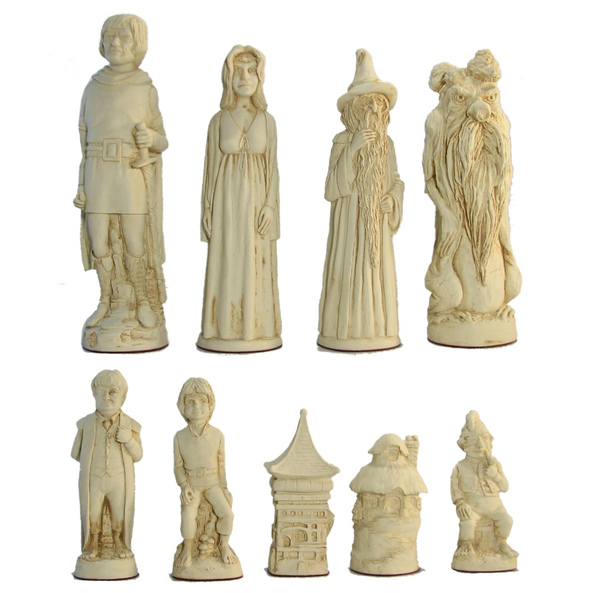 7 Quot Large Lord Of The Rings Crushed Stone Chess Pieces