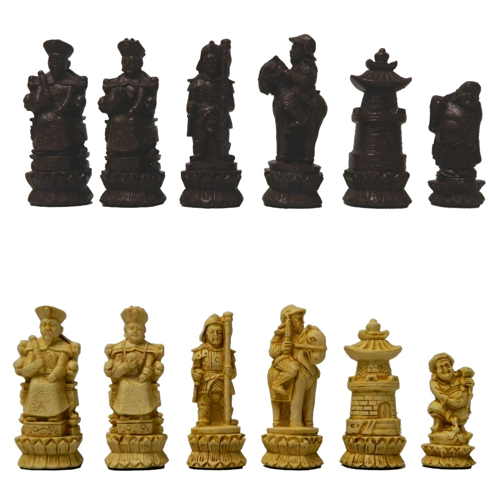 Chinese Folklore Crushed Stone Chess Set