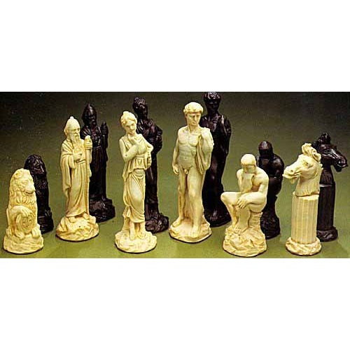 Classical crushed stone chess pieces - Granite chess pieces ...