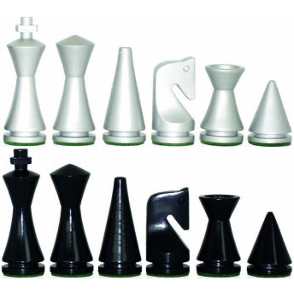 3 Italian Modern Wooden Chess Pieces