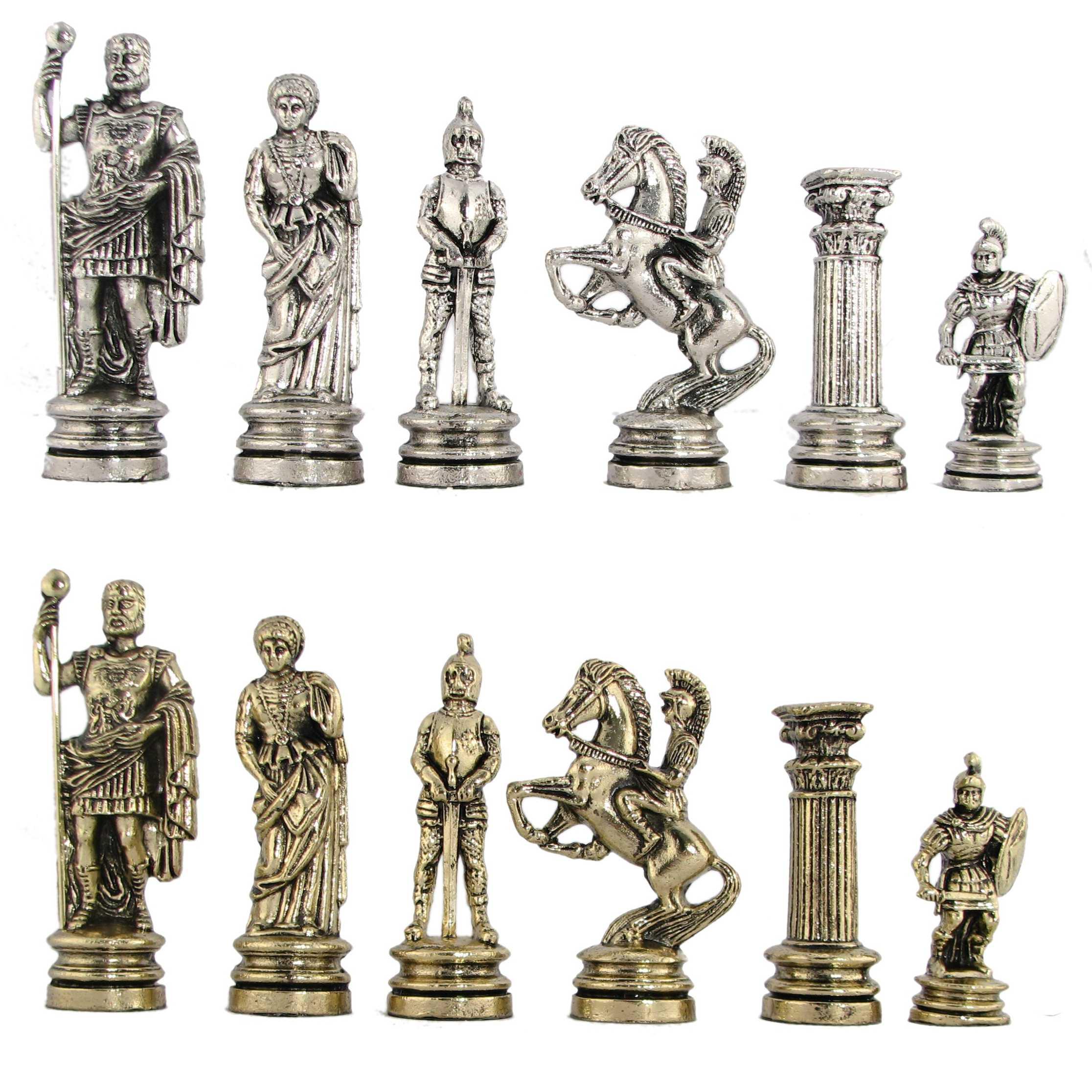 4 1 2 roman legion metal chess pieces