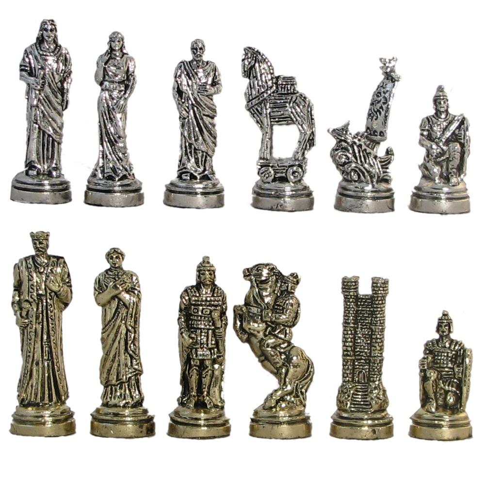 2 3 4 Trojan War Metal Chess Pieces