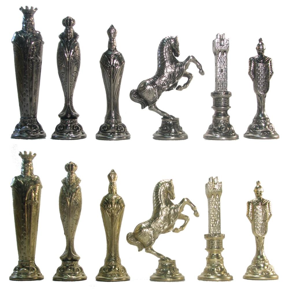 5 1 2 Ultraweight Metal Renaissance Chess Pieces