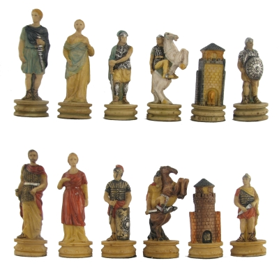 medieval and ancient historical theme chess sets