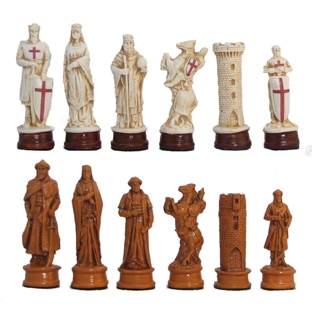 4 3 4 Quot Crusaders Vs Saracens Hydrostone Chess Pieces