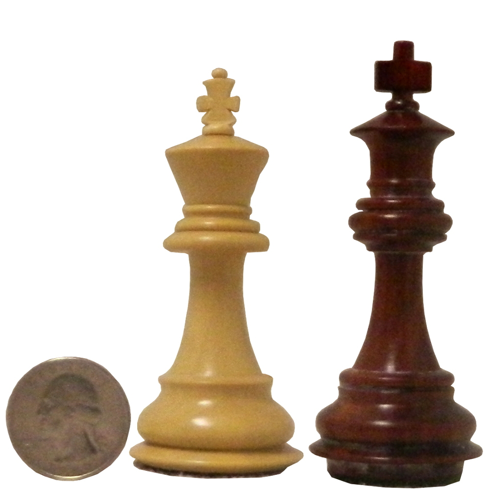 Staunton Chess Pieces By King Height