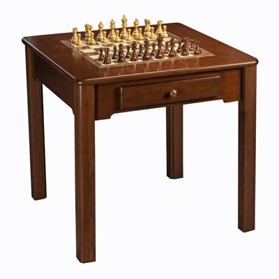 Classic Cherry Wood Chess Checker Amp Backgammon Game Table