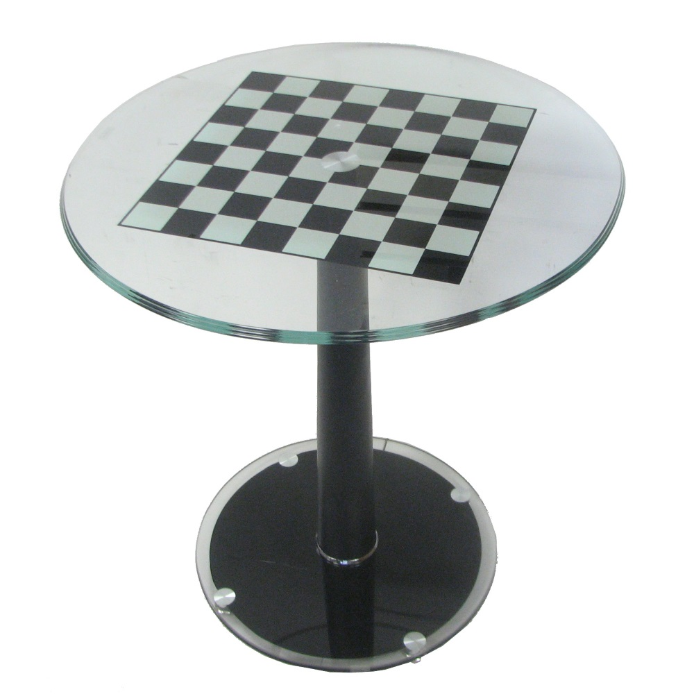 Italian Modern Pedestal Chess Table With 2 Quot Squares