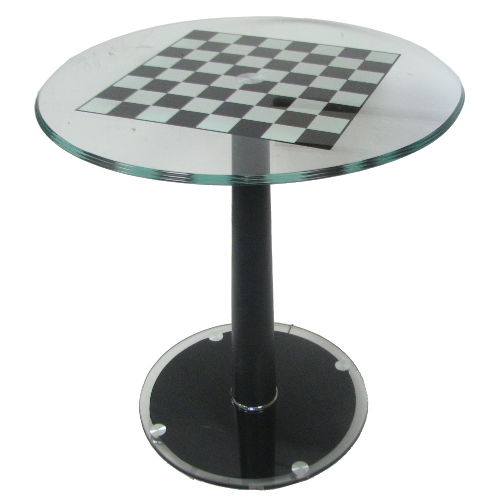 """Modern Chess Table italian modern pedestal chess table with 2"""" squares"""