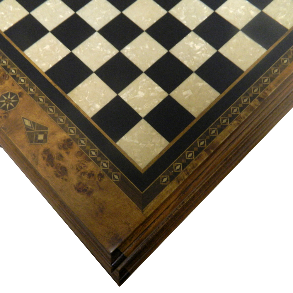 cool and opulent wood chess pieces.  Opulent Black Turkish Storage Chess Board