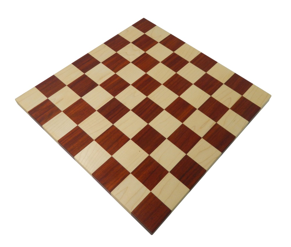 """19/"""" Wooden Large Chess Board Black Ebony Wood /& Maple with 2/"""" Sq Hand Carved"""