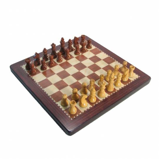Small Best Magnetic Chess Set with Case - Rosewood