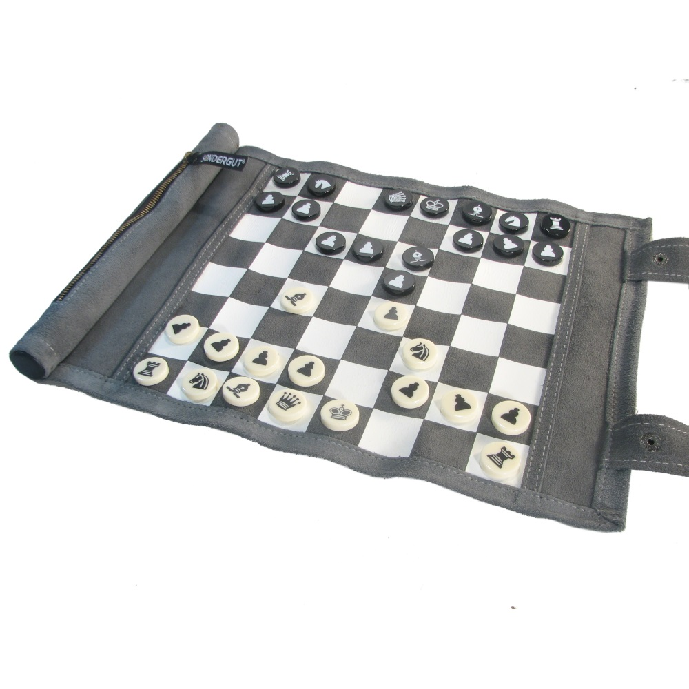 sc 1 st  ChessUSA & Leatherette Roll-Up Travel Chess Set
