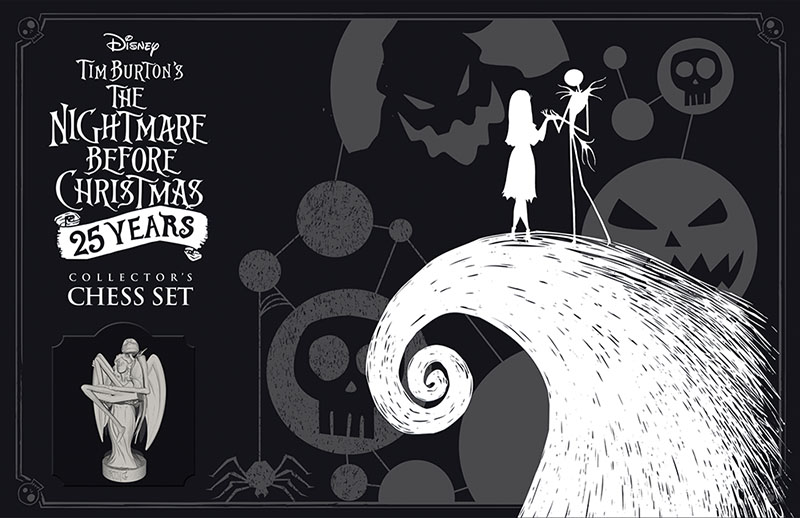 Nightmare Before Christmas Illustration.The Nightmare Before Christmas 25 Years Collector S Chess Set