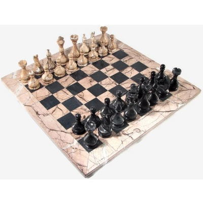 Marble chess sets your move chess games - Granite chess pieces ...