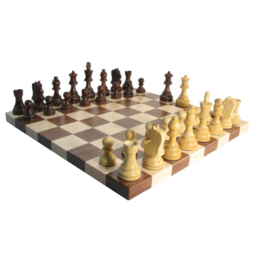 100 Wooden Chess Set Man Ray 32 Piece Chess Figure