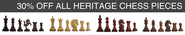 Save 30 percent on all heritage staunton chess pieces