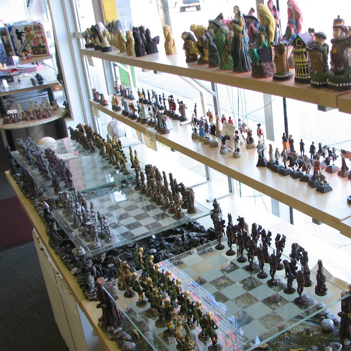 pewter chess pieces
