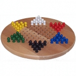 We have several different chinese checker sets, with marbles or pegs
