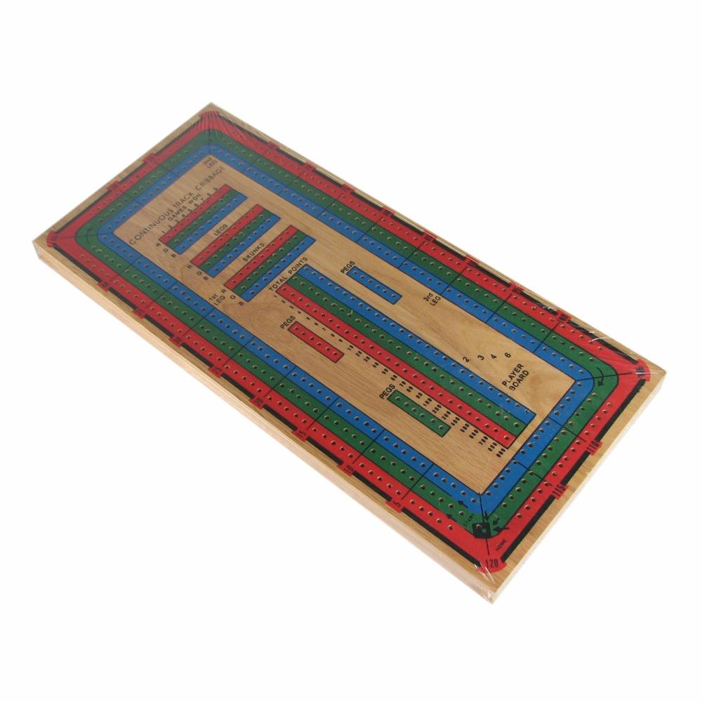 Large Color 3 Track Cribbage Board