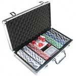 We have poker sets, chips, and poker tables as well as other gambling games and accessories