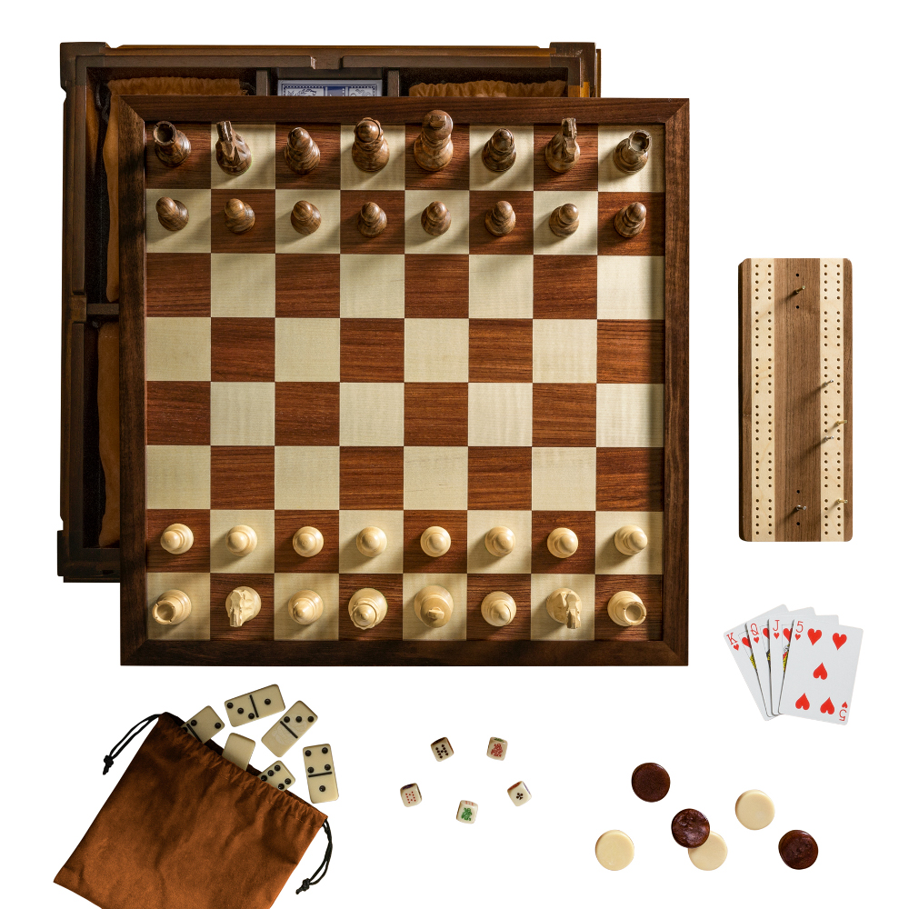 multiple game combination chess sets