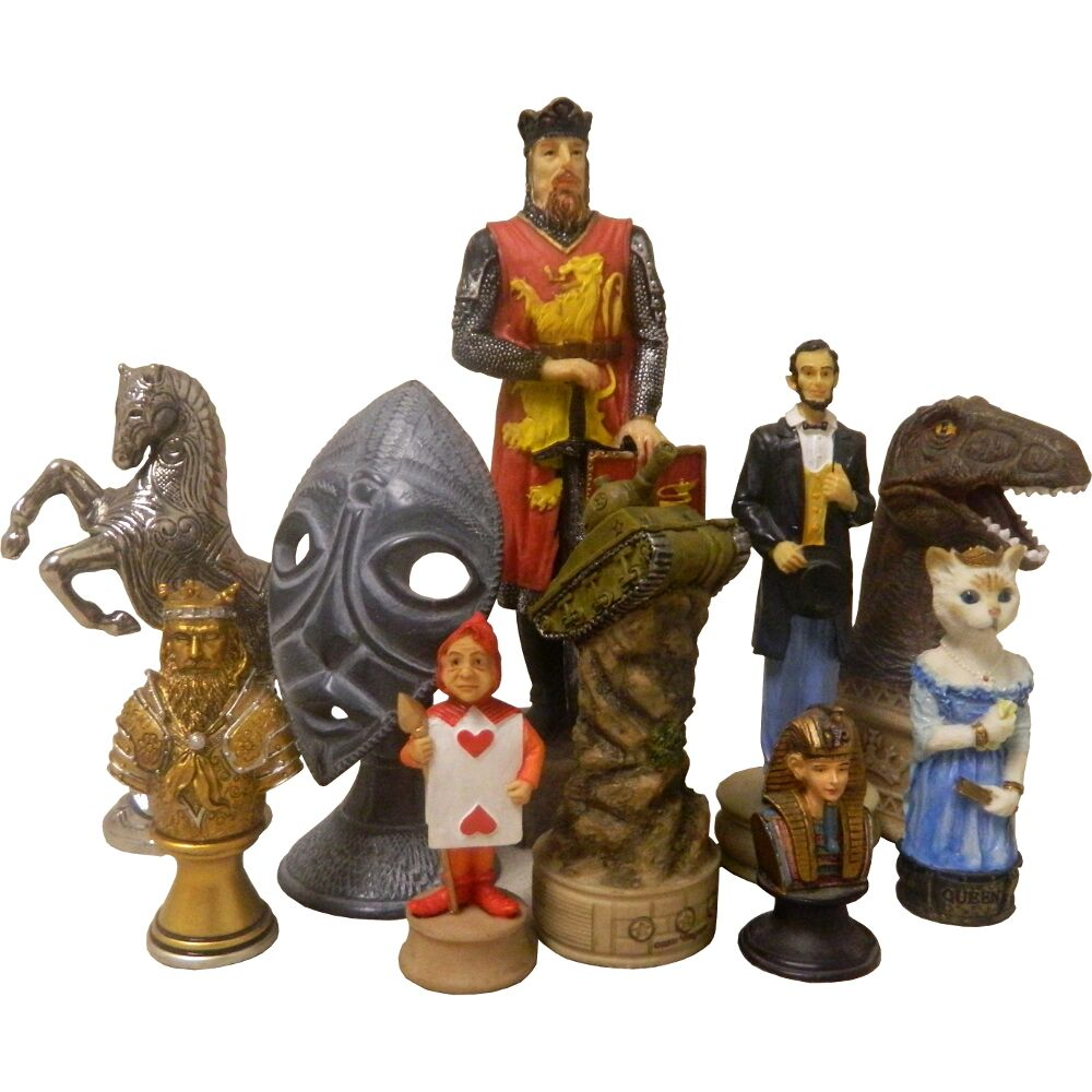 theme chess piece collection