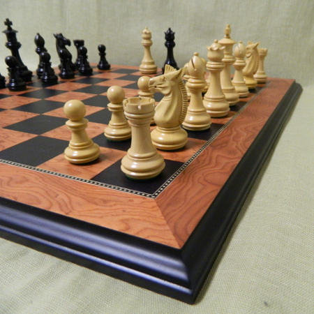 Large sized heirloom wood chess sets