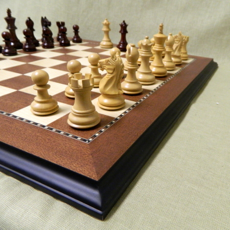 Small sized heirloom wood chess sets