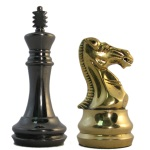 Metal Staunton Chess Pieces